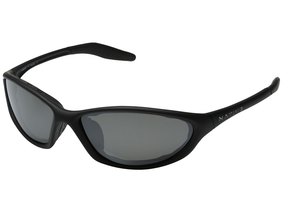 Native Eyewear - Silencer Reflex (Asphalt/Silver Reflex Polarized Lens) Polarized Sport Sunglasses