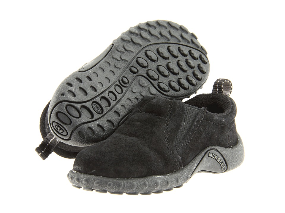 Merrell Kids - Jungle Moc Jr (Infant/Toddler) (Black) Kids Shoes