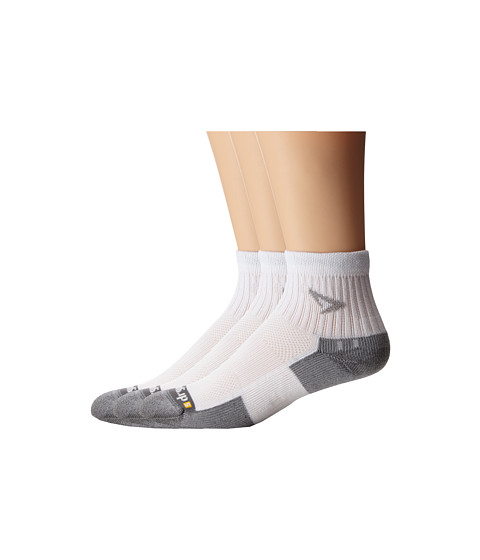 Drymax Sport - Tennis 1/4 Crew 3-Pair Pack (White/Grey) Quarter Length Socks Shoes