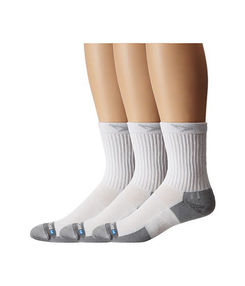 Drymax Sport - Tennis Crew 3-Pair Pack (White/Grey) Crew Cut Socks Shoes