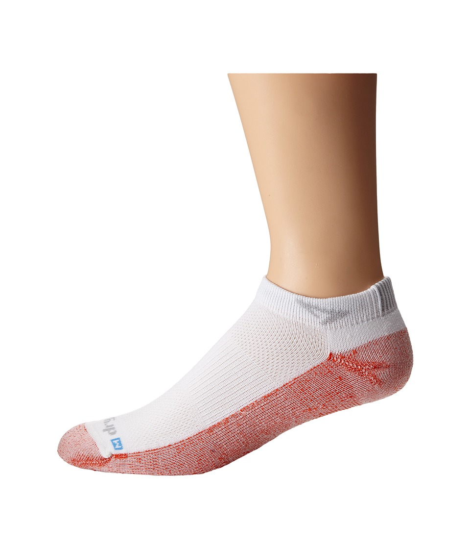 Drymax Sport - Maximum Protection Mini Crew 1-Pair Pack (Orange/White) Low Cut Socks Shoes