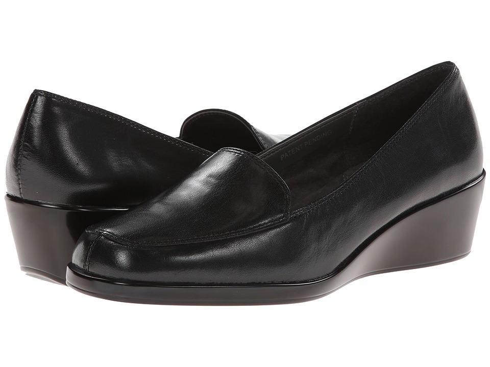 Aerosoles - Final Exam (Black Leather) Women's Wedge Shoes