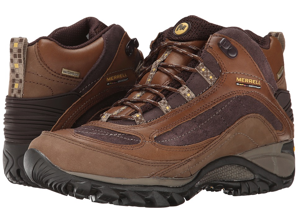 Merrell - Siren Waterproof Mid Leather (Brown) Women's Lace-up Boots