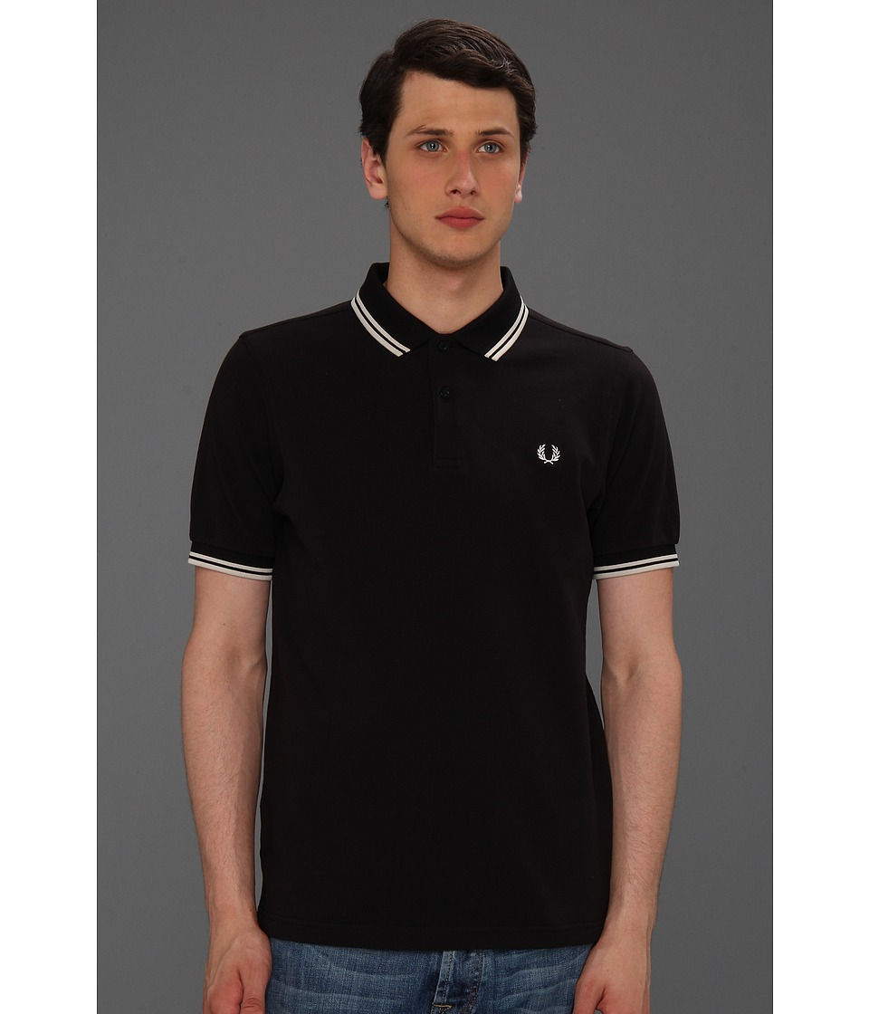 Fred Perry - Twin Tipped Fred Perry Polo (Navy/White/White) Men's Short Sleeve Pullover