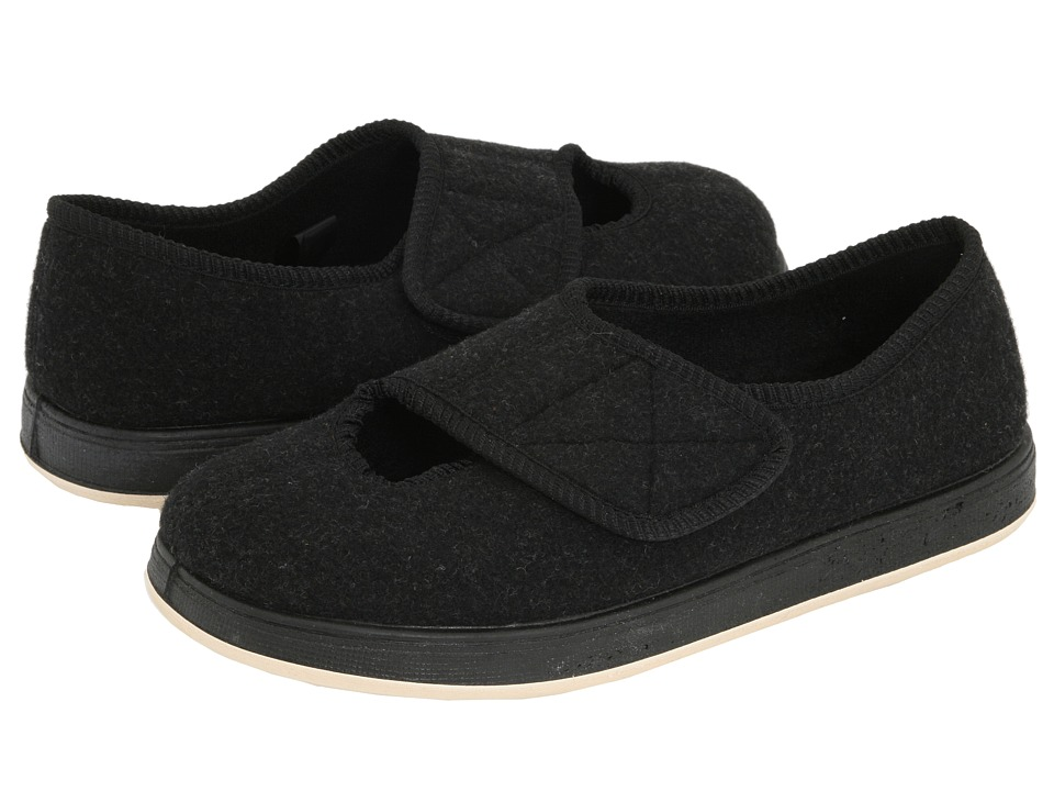 Foamtreads - Kendale (Black Fabric) Women's Slippers