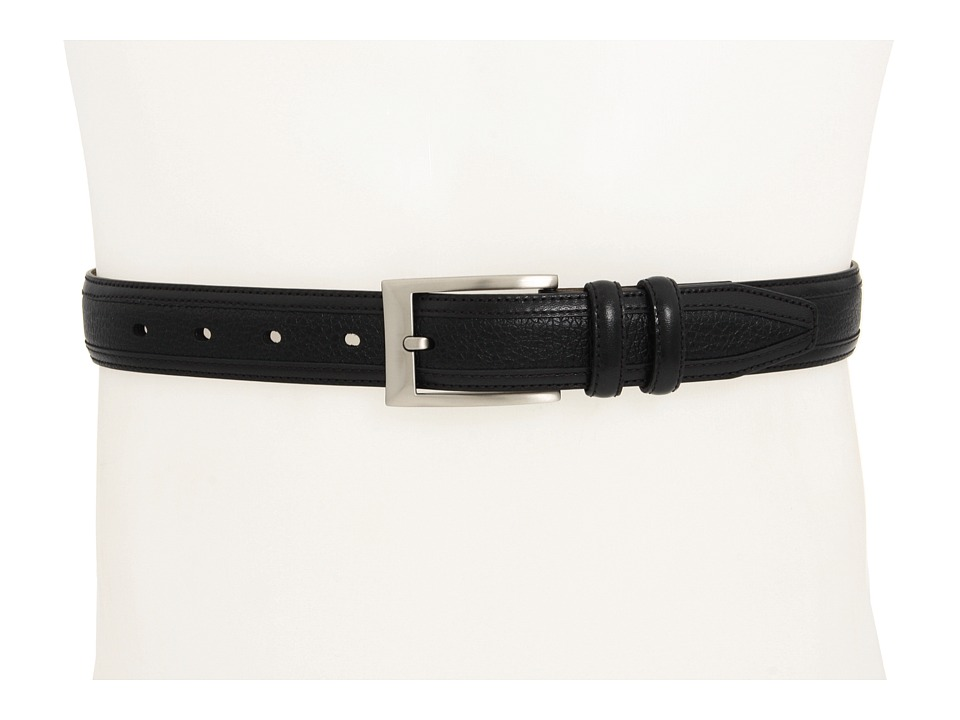 Johnston & Murphy - Deerskin Belt (Black) Men's Belts