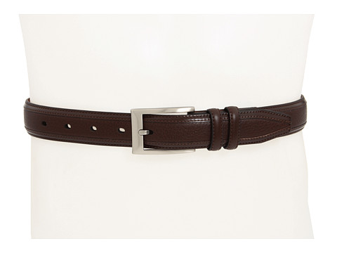 Johnston & Murphy - Deerskin Belt (Brown) Men's Belts