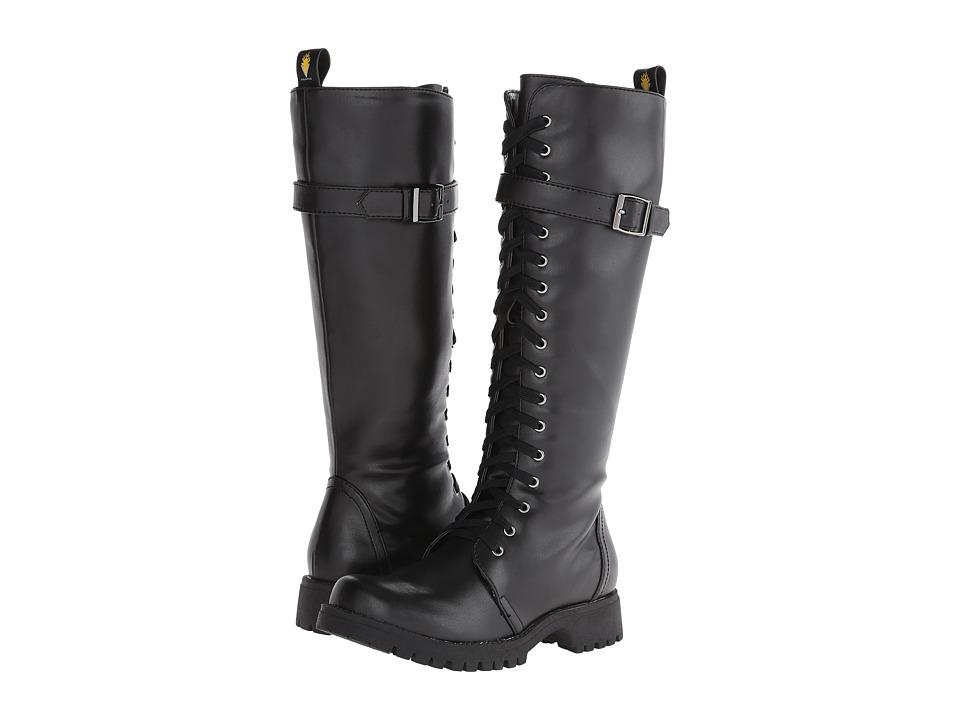 VOLATILE - Combat (Black) Women's Zip Boots