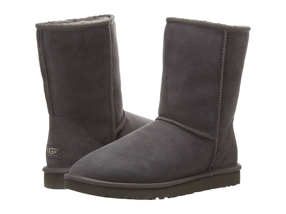 UGG - Classic Short (Grey) Women's Pull-on Boots