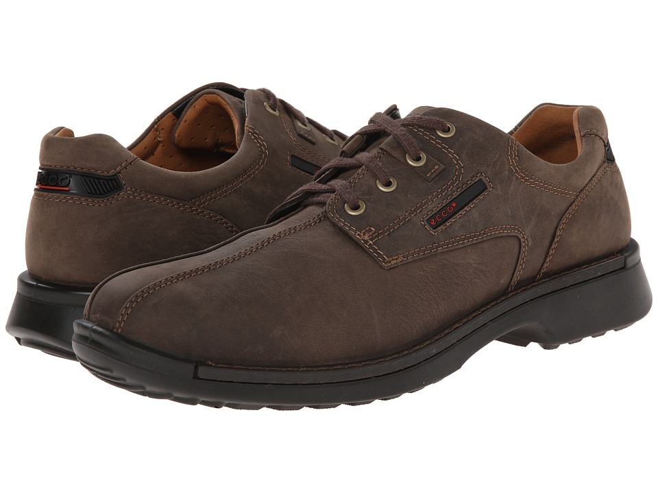 ECCO - Fusion Bicycle Toe Tie (Coffee Leather) Men's Lace-up Bicycle Toe Shoes