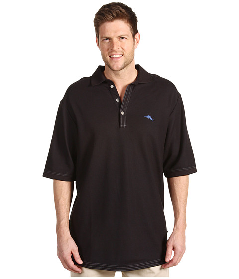 Tommy Bahama Big & Tall - Big Tall Emfielder Polo Shirt (Black) Men