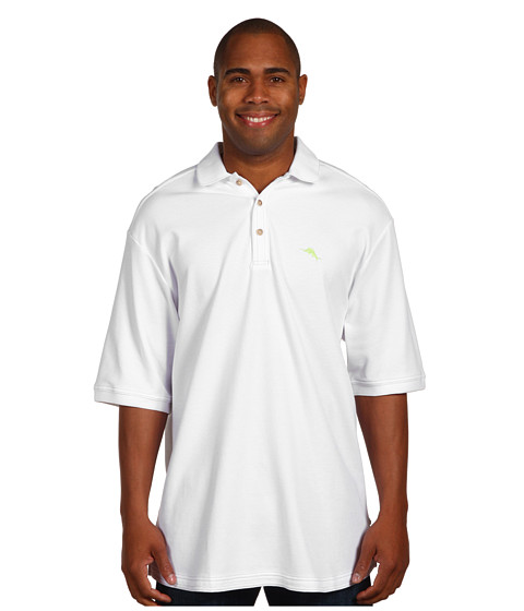 Tommy Bahama Big & Tall - Big Tall Emfielder Polo Shirt (White) Men