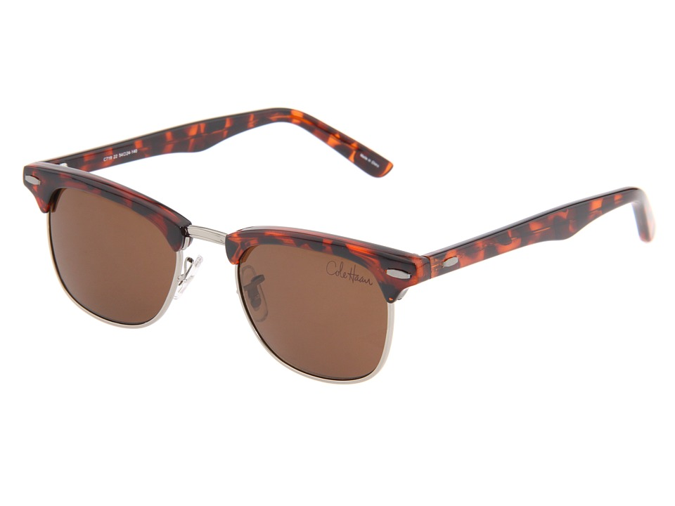 Cole Haan - C719 (Tortoise) Plastic Frame Fashion Sunglasses