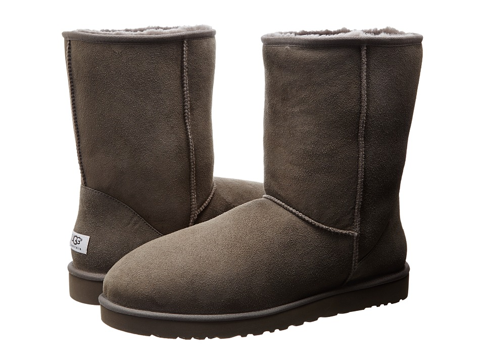 UGG - Classic Short (Grey) Men's Pull-on Boots