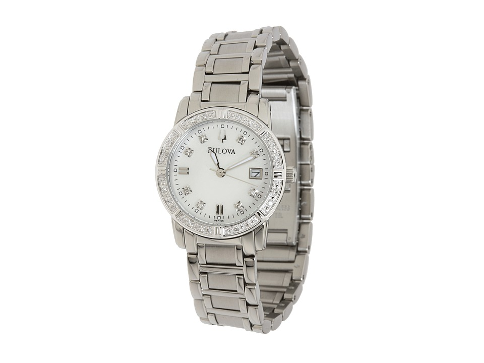 Bulova - Ladies Sport/Marine Star 96R105 (Stainless Steel/White Face) Dress Watches