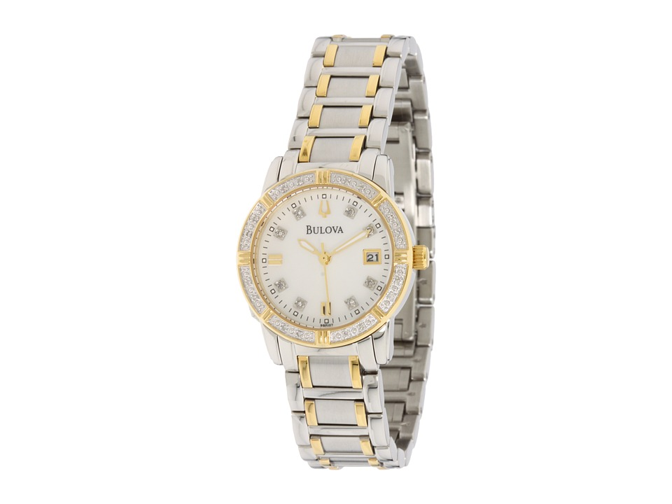 Bulova - Ladies Sport/Marine Star 98R107 (Stainless Steel/White Face) Dress Watches