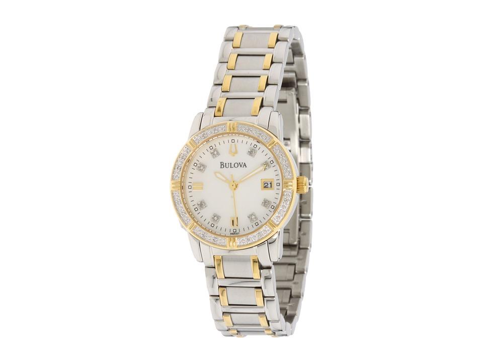 Bulova - Ladies Sport/Marine Star 98R107 (Stainless Steel/White Face) Dress Watches