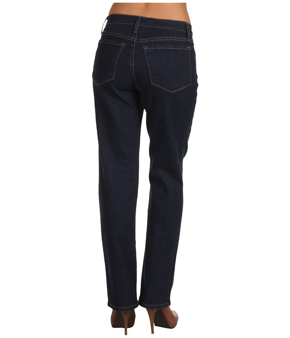 NYDJ Petite - Petite Marilyn Straight Premium Blue Black (Blue Black) Women's Jeans