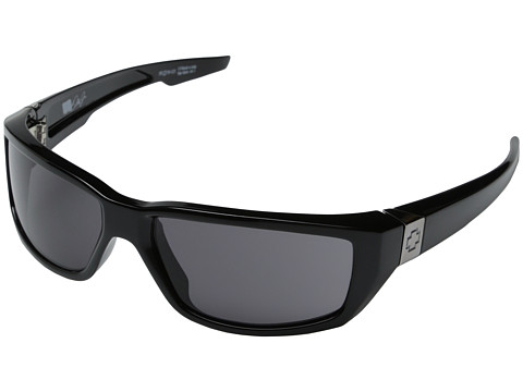 Spy Optic - Dirty Mo (Shiny Black w/ Signature Grey) Sport Sunglasses