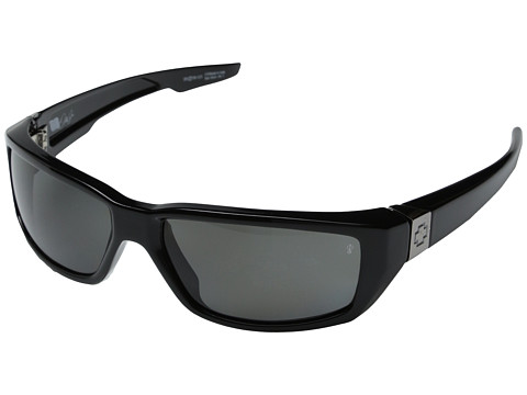 Spy Optic - Dirty Mo Polarized (Shiny Black w/ Signature Grey Polarized) Fashion Sunglasses