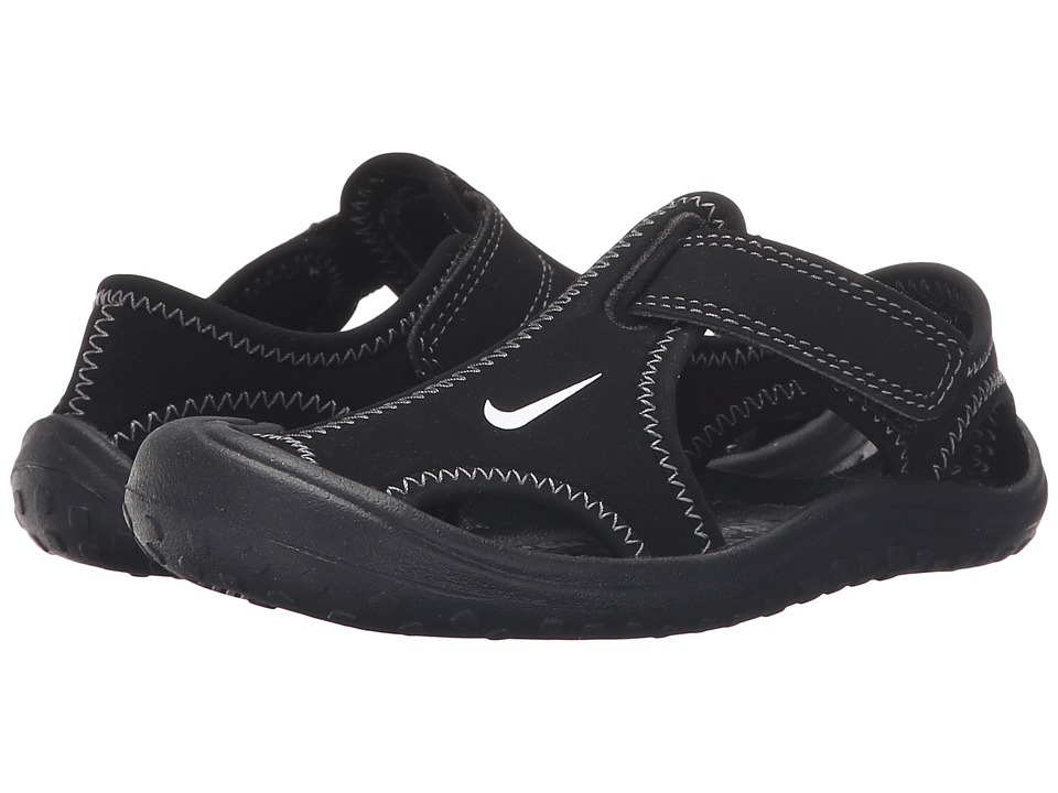 Nike Kids - Sunray Protect (Little Kid) (Black/White/Dark Grey) Boys Shoes