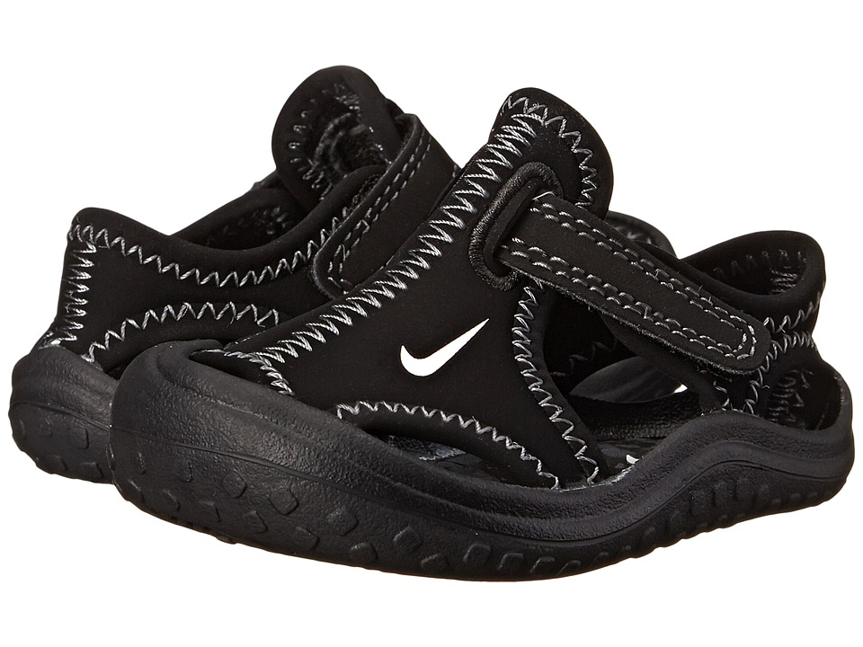 Nike Kids - Sunray Protect (Infant/Toddler) (Black/White/Dark Grey) Boys Shoes