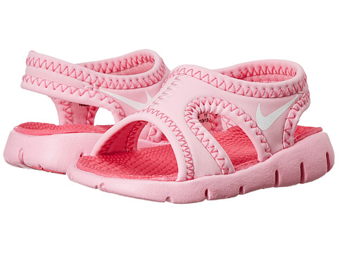 Nike Kids - Sunray 9 (Infant/Toddler) (Perfect Pink/White/Light Rose) Girls Shoes