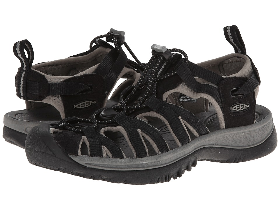 Keen - Whisper (Black/Gargoyle) Women's Sandals