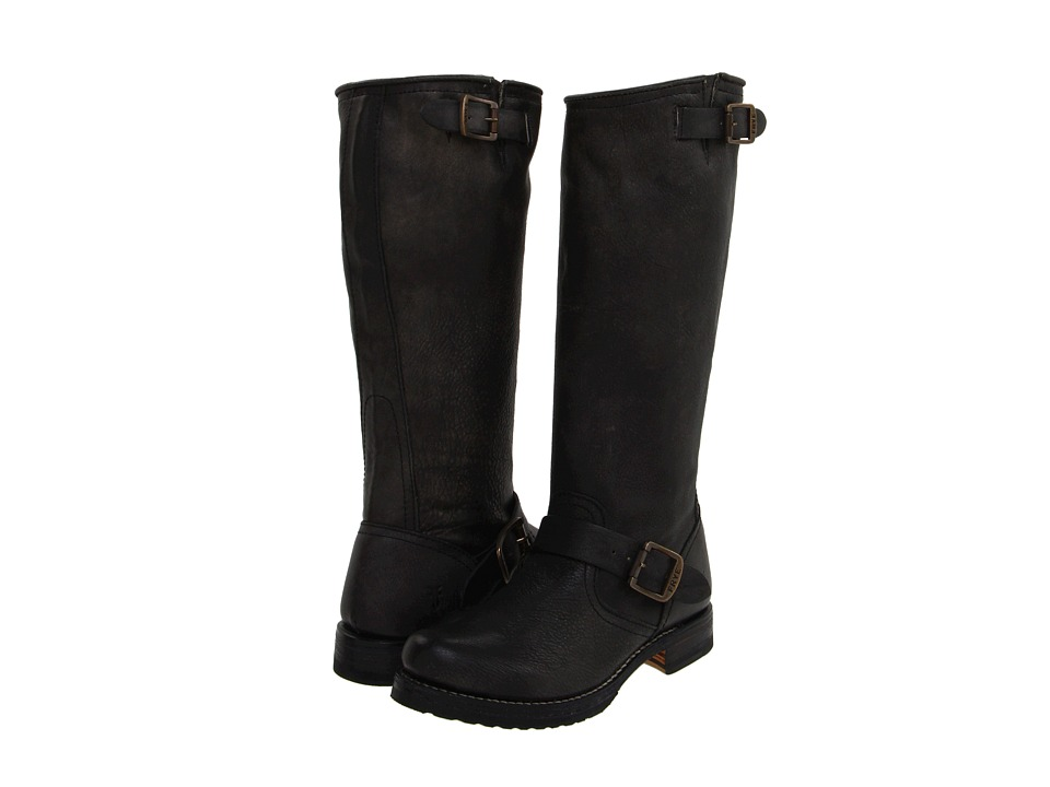 Frye - Veronica Slouch (Black Calf Shine Vintage) Women's Pull-on Boots