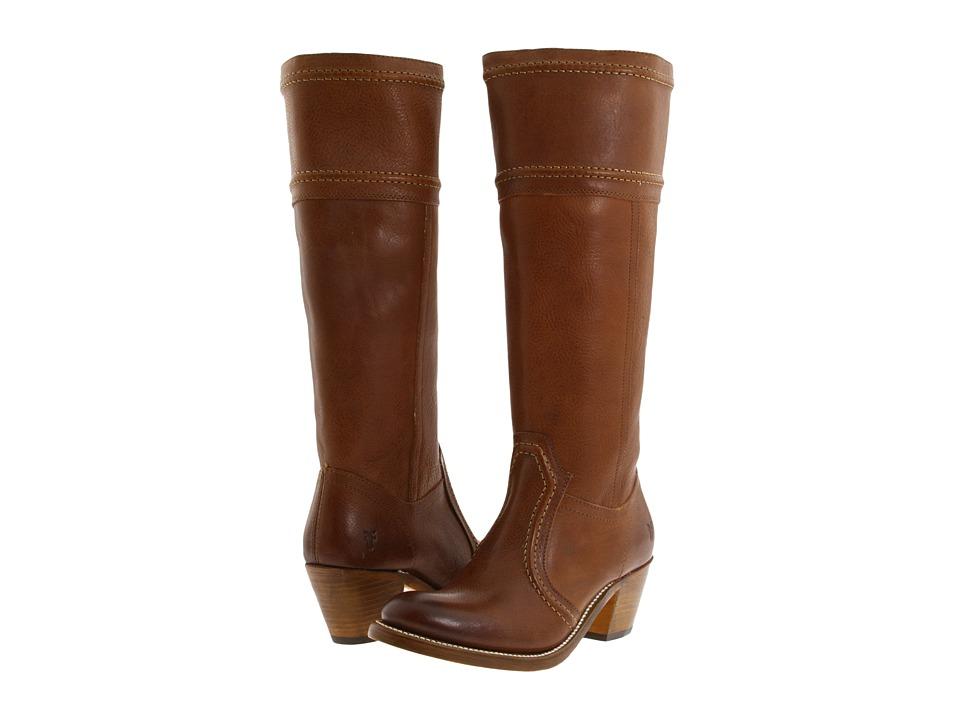 Frye - Jane 14L Stitch (Redwood Leather Tumbled Full Grain Leather) Cowboy Boots