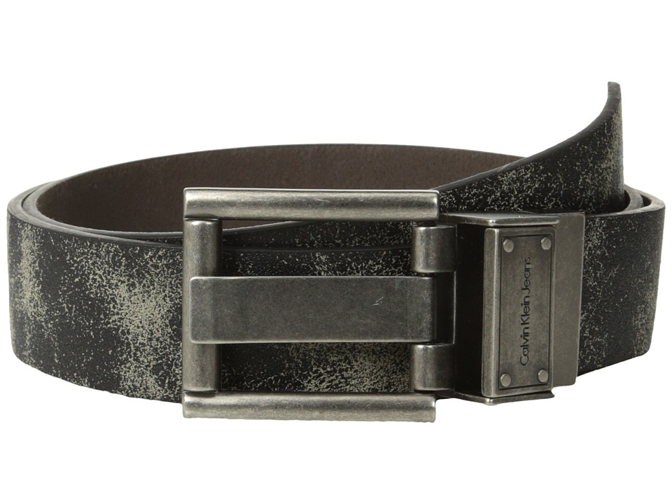 Calvin Klein - 73564 (Black/Brown) Men's Belts