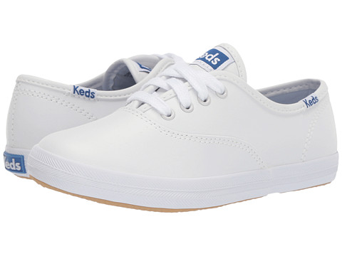 little girls white leather keds