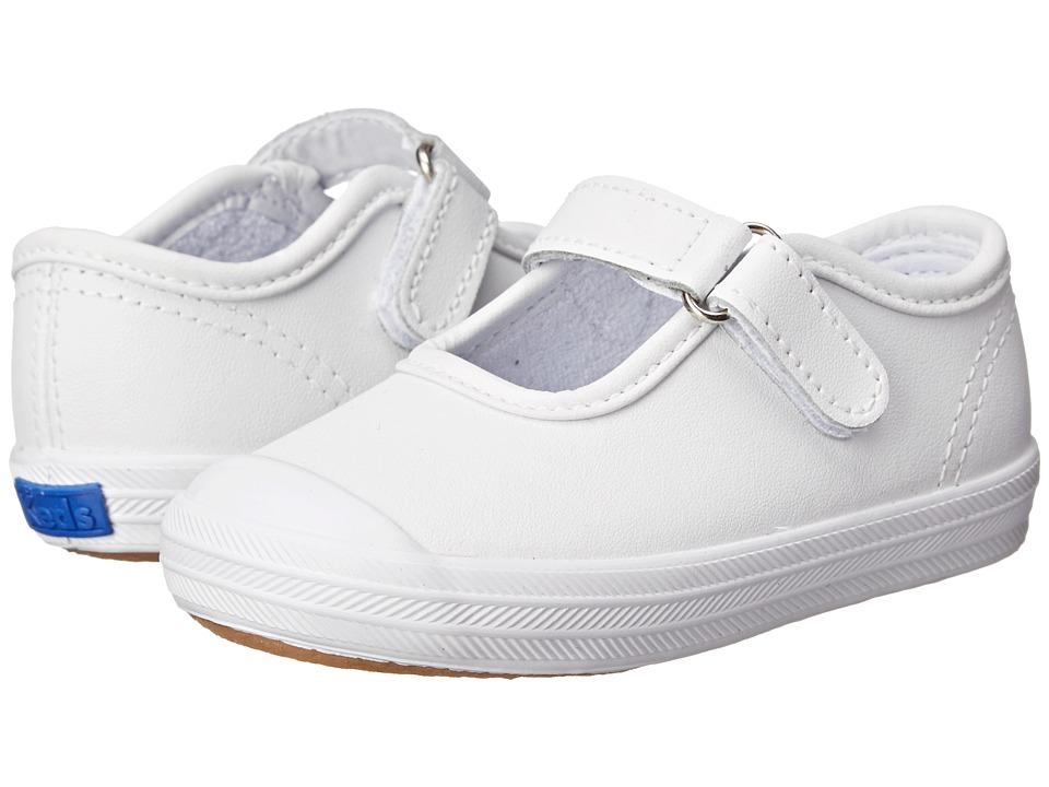 Keds Kids - Champion Toe Cap Mary Jane (Infant/Toddler) (White Leather) Girls Shoes