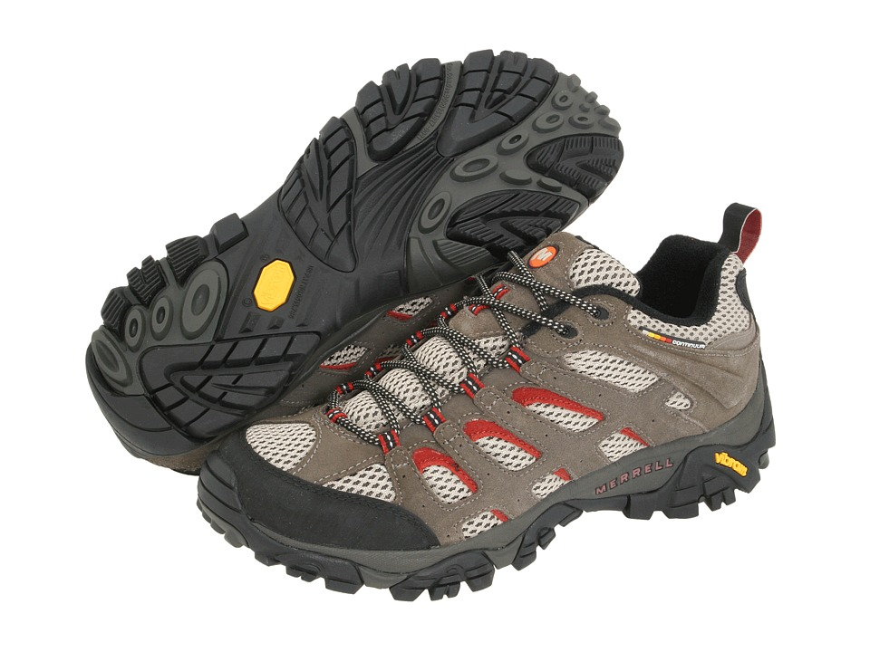 Merrell - Moab Ventilator (Grey/Rust) Men's Lace up casual Shoes