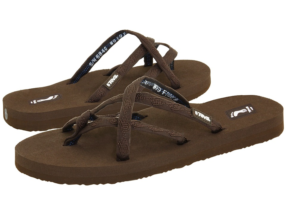 cb4fba1e353082 Teva Olowahu Womens Sandals (Brown) on PopScreen