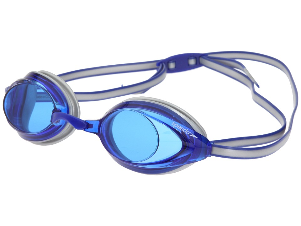 Speedo - Vanquisher 2.0 Goggle (Silver/Blue) Water Goggles