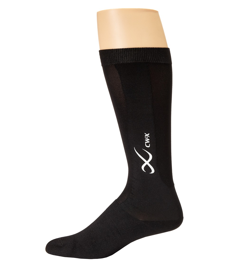CW-X - Compression Support Socks (Black) Knee High Socks Shoes