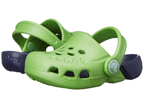 Crocs Kids - Electro (Toddler/Little Kid) (Lime/Navy) Kids Shoes