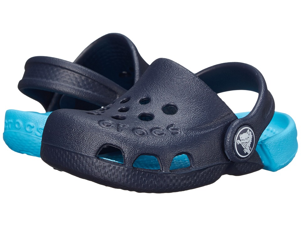 Crocs Kids - Electro (Toddler/Little Kid) (Navy/Electric Blue) Kids Shoes