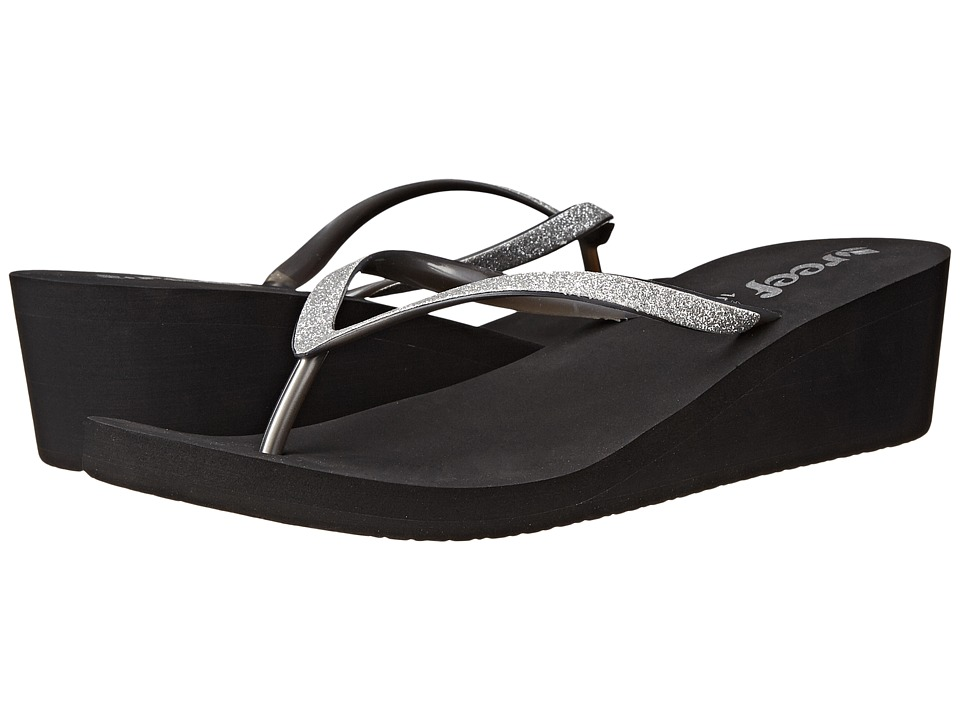 Reef - Krystal Star (Black/Silver) Women's Sandals