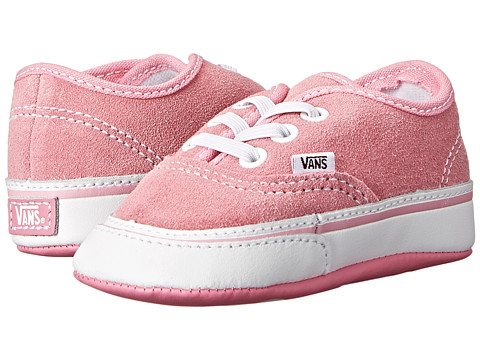 Vans Kids - Authentic Crib (Infant/Toddler) (Aurora Pink/True White) Girls Shoes