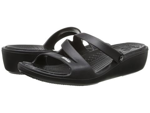 Crocs - Patricia (Black/Black) Women's Wedge Shoes