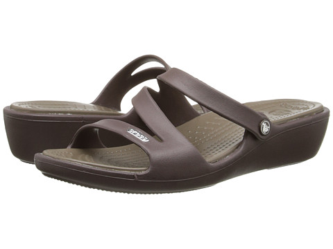 Crocs - Patricia (Brown/Walnut) Women's Wedge Shoes