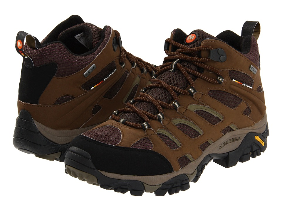 Merrell - Moab Mid GORE-TEX XCR (Dark Earth) Men's Hiking Boots