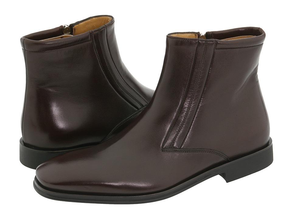 Bruno Magli - Raspino (Dark Brown Nappa) Men's Dress Zip Boots