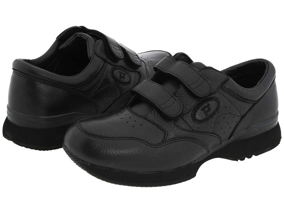 Propet - Leisure Walker Strap Medicare/HCPCS Code=A5500 Diabetic Shoe (Black) Men's Hook and Loop Shoes