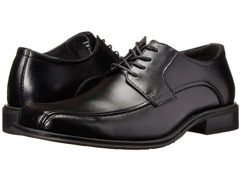 Image of Bass - Albany (Black Full Grain Leather) Men's Lace-up Bicycle Toe Shoes