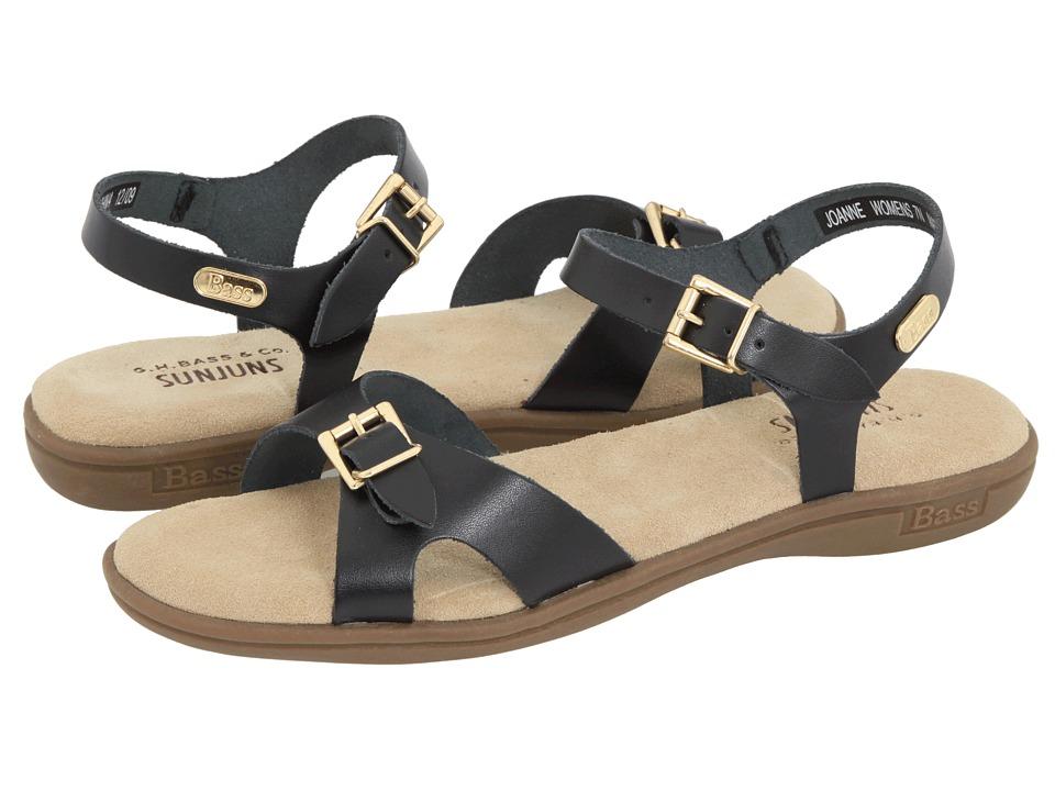 Bass - Joanne (Black Leather) Women's Sandals