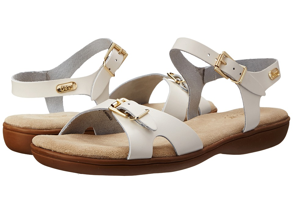 Bass - Joanne (White Leather) Women's Sandals