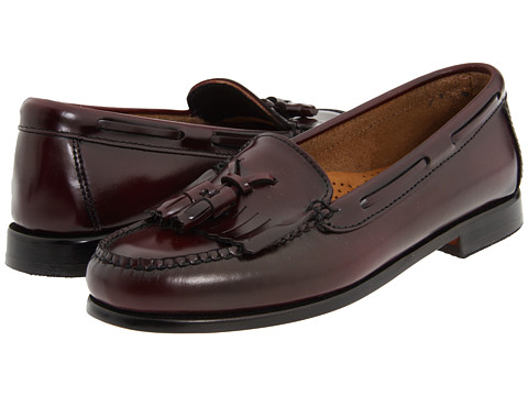 Bass - Washington (Burgundy Box Patent) Women's Slip on Shoes